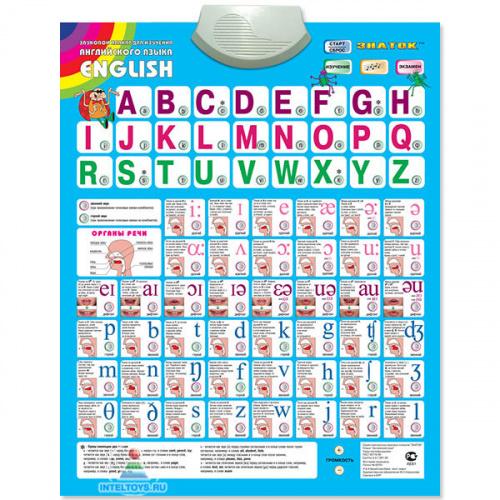 Электронный плакат «Говорящая азбука» английская (Знаток)