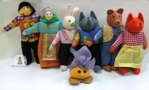 Шагающие куклы для театра «Колобок», Наивный мир