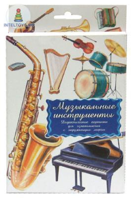 Дидактические карточки «Музыкальные инструменты», Маленький гений-Пресс