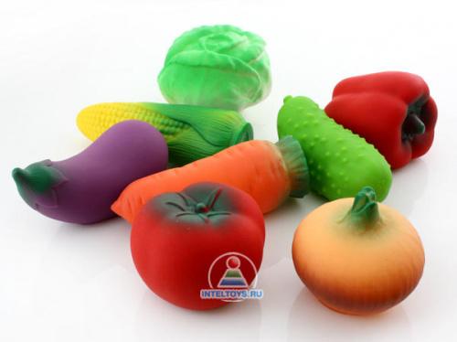Набор резиновых игрушек «Овощи»