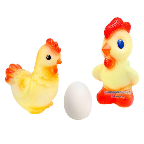 Комплект резиновых игрушек «Курочка Ряба» (3 штуки)