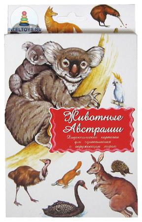 Дидактические карточки «Животные Австралии», Маленький гений-Пресс