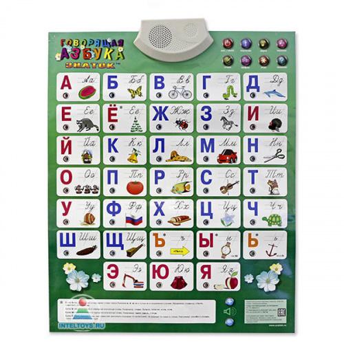 Электронный плакат «Говорящая азбука» (Знаток)