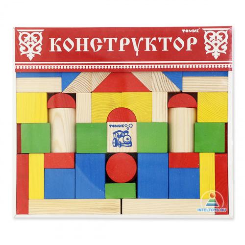 Конструктор цветной Томик, 65 деталей