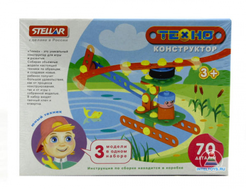 Конструктор Stellar «Техно – Вертолёт», 70 деталей, (Стеллар)