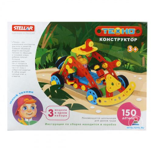 Детский конструктор «Техно – Джип», 150 деталей, STELLAR (Стеллар)