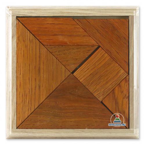 Танграм, головоломка деревянная