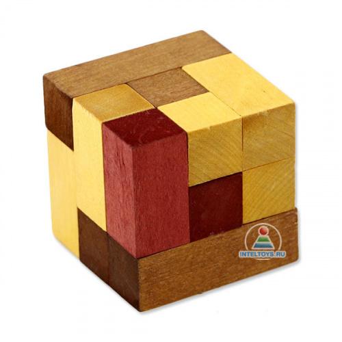 Деревянная игра-головоломка «Кубики для всех»