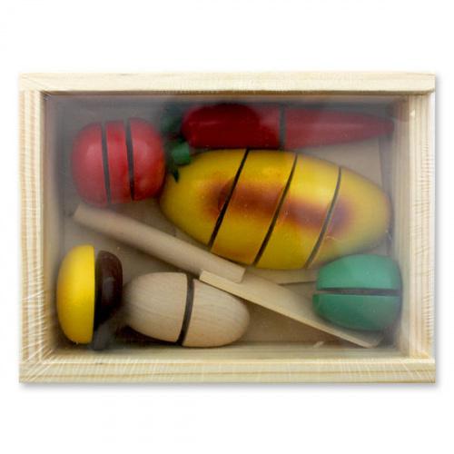 Набор игрушечных продуктов деревянный, вариант B, Винтик и Шпунтик