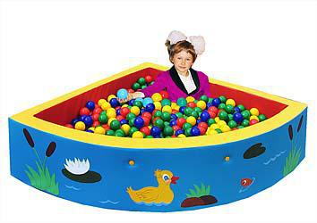 Сухой бассейн угловой 130х40 см