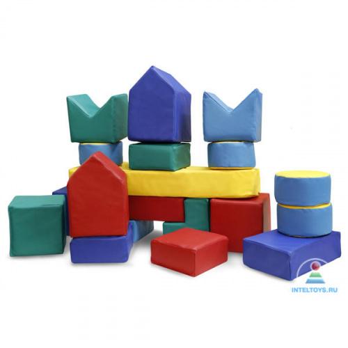 Мягкий напольный конструктор «Юный строитель» (40 предметов)