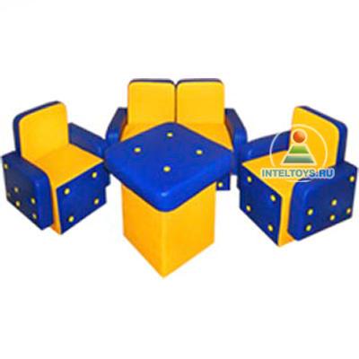 Набор детской игровой мебели (столик, диван, 2 кресла)