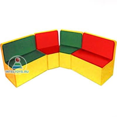 Игровая мебель для детского сада угловая (2 кресла, 2 дивана)