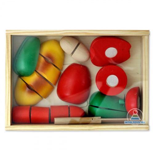 Набор игрушечных продуктов деревянный