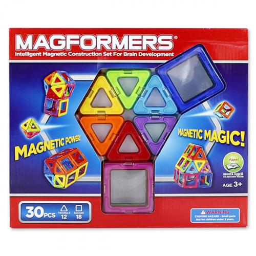 Магнитный конструктор Magformers (Магформерс) Rainbow (Радуга), 30 деталей