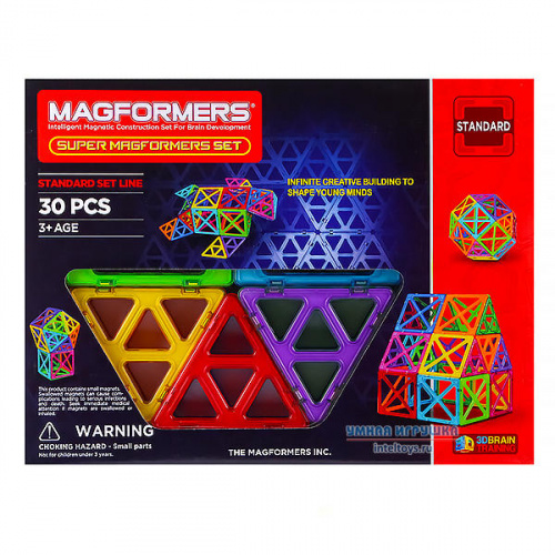 Магнитный конструктор Magformers (Магформерс) Super, 30 деталей