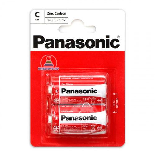 Батарейки LR14 (C), 2 шт. (Panasonic/ЭРА), Панасоник
