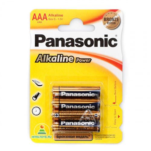 Батарейки Panasonic (Панасоник) LR03 (AAA) Alkaline, 4 штуки