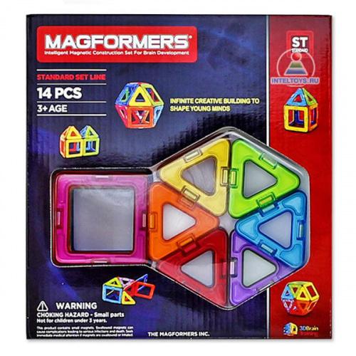 Магнитный конструктор Magformers (Магформерс), 14 деталей