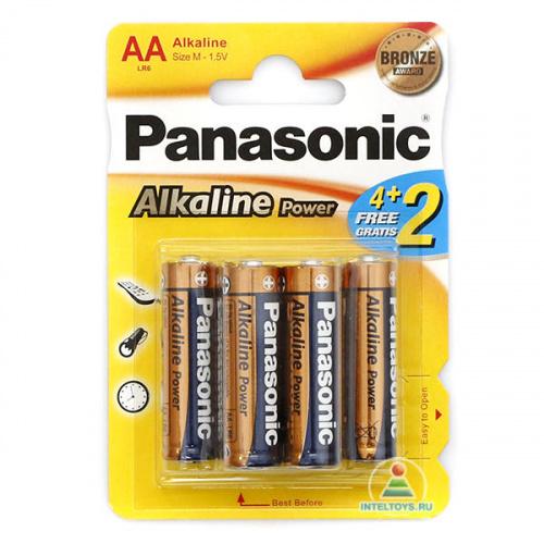 Батарейки Panasonic LR6 (AA) Alkaline, 6 шт.