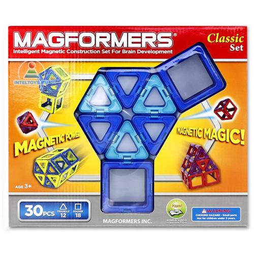 Магнитный конструктор Magformers (Магформерс) Classic, 30 деталей