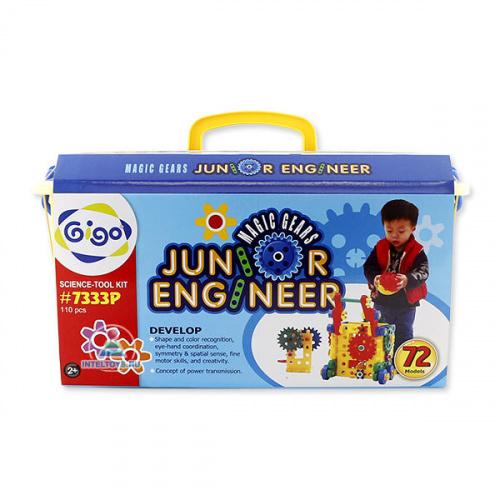 Конструктор GIGO (Гиго) «Юный инженер – Волшебные шестерни-2» (110 деталей)