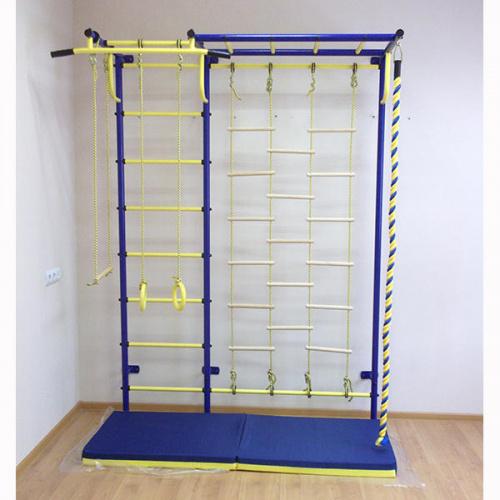 Детский пристенный спорткомплекс «Пионер С4Лм» с комбинированной лестницей