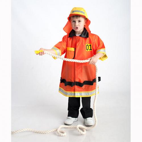 Детский костюм для сюжетно-ролевых игр «Пожарный» (куртка+шапка)
