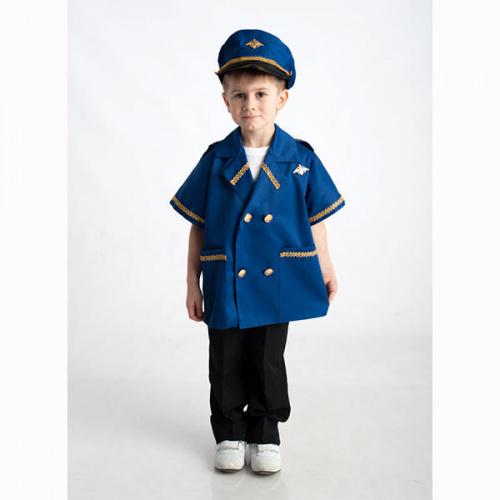 Детский костюм для сюжетно-ролевых игр «Летчик» (куртка+фуражка)