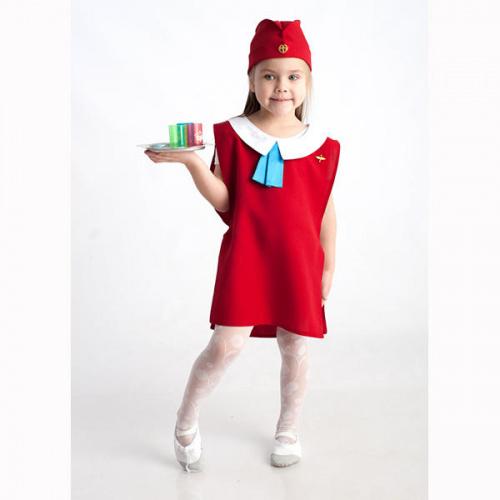 Детский костюм для сюжетно-ролевых игр «Стюардесса» (жилет+пилотка)