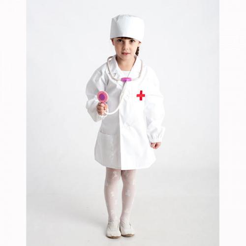 Детский костюм для сюжетно-ролевых игр «Доктор» (халат+шапочка)