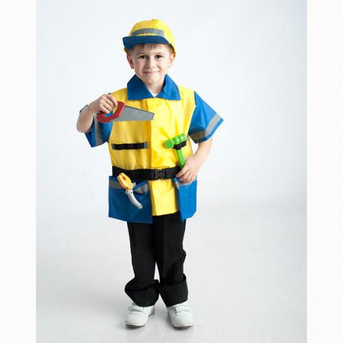 Детский костюм для сюжетно-ролевых игр «Рабочий» (куртка+кепи)