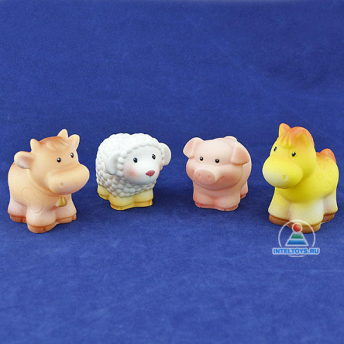 Набор резиновых игрушек «Домашние животные»
