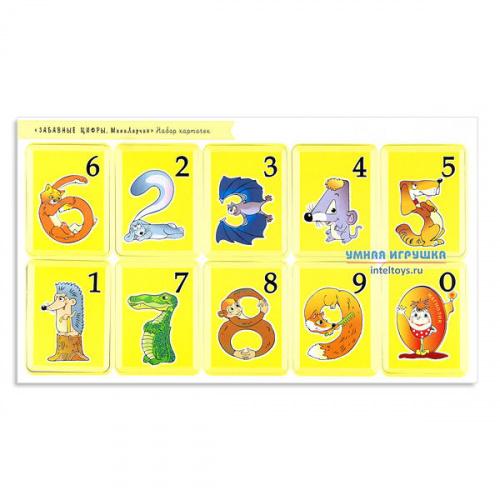 Набор карточек «Забавные цифры», Развивающие игры Воскобовича