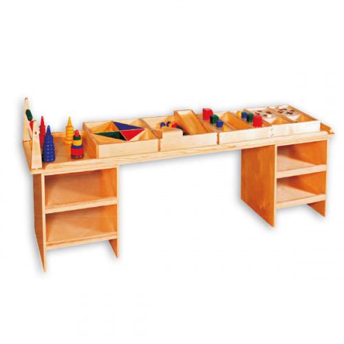 Дидактический стол для детского сада с наполнением (150х46х52 см)