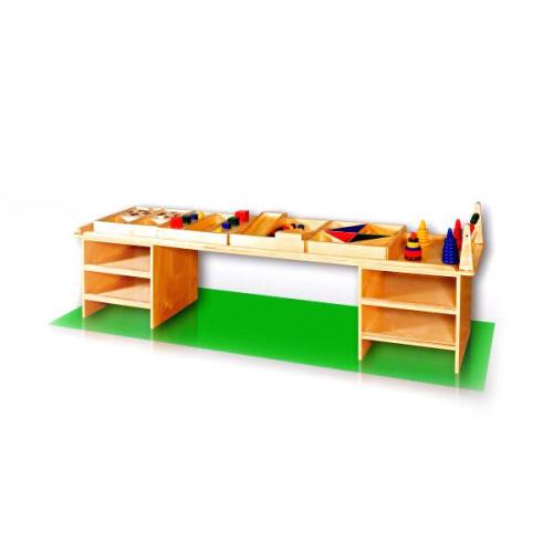 Дидактический стол с наполнением для детского сада (200х46х48 см)