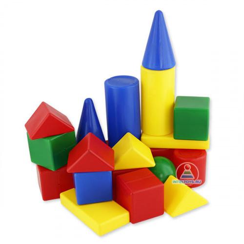 Детский конструктор из пластмассы «Теремок», 21 деталь