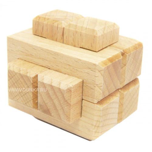 Головоломка деревянная «Узел», 8 элементов (малый)