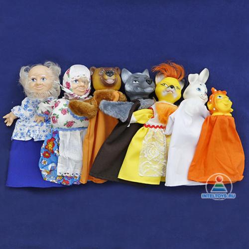 Кукольный театр по сказкам «Колобок», набор №3 (7 персонажей)