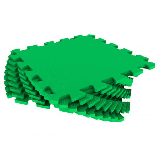 Модульный мягкий пол-пазл универсальный Eco Cover (Эко Ковер), 33х33 см (зеленый)