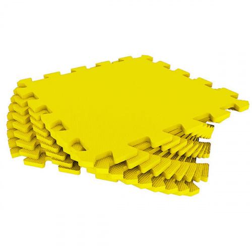 Модульный мягкий пол-пазл универсальный Eco Cover (Эко Ковер), 33х33 см (желтый)