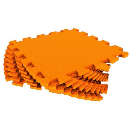 Модульный мягкий пол-пазл Eco Cover (Эко Ковер) универсальный, 33х33 см (оранжевый)