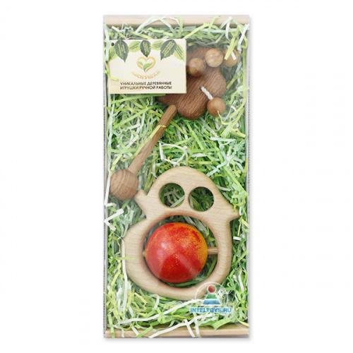 Подарочный набор погремушек Леснушки «Яблочко от яблоньки»