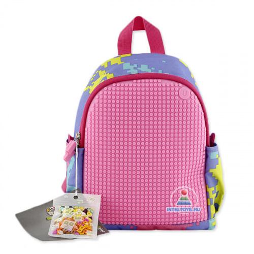 Рюкзак Upixel (Юпиксель) с боковыми карманами (розовый)