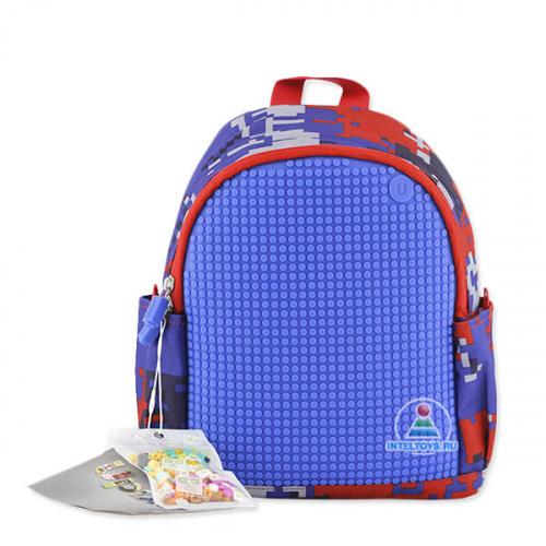 Пиксельный рюкзак с боковыми карманами (синий), Upixel (Юпиксель)