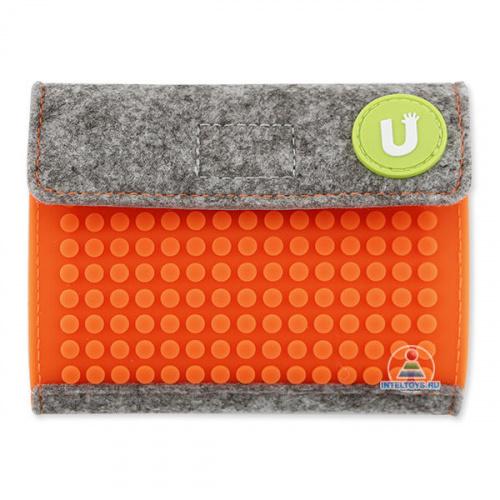 Пиксельный кошелек Pixel felt, Upixel (Юпиксель), светло-оранжевый