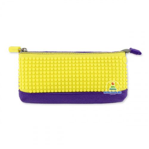 Пенал из пикселей Pencil Case, Upixel (Юпиксель), фиолетово-желтый