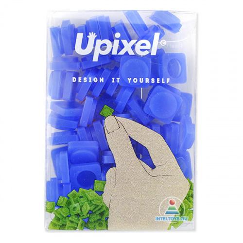 Маленькие пиксельные фишки темно-синие, Upixel (Юпиксель)