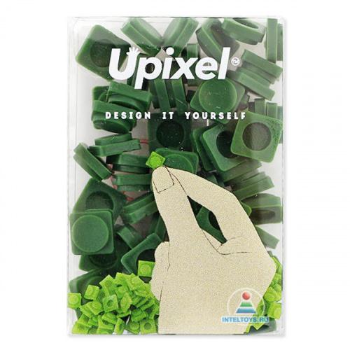 Маленькие пиксельные фишки темно-зеленые, Upixel (Юпиксель)