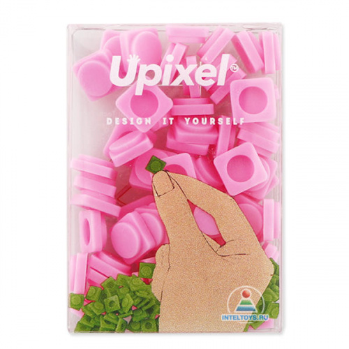 Маленькие пиксельные фишки Upixel, розовые (Юпиксель)
